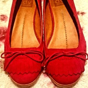 DV by Dolce Vita Red Suede Flats